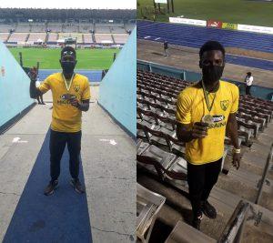 collage of a black man wearing yellow shirt